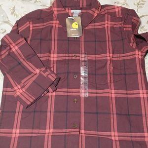 Carhartt Women's Fairview Plaid Shirt, Cranberry,